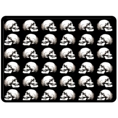 Halloween Skull Pattern Double Sided Fleece Blanket (large)  by ValentinaDesign