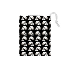 Halloween Skull Pattern Drawstring Pouches (small)  by ValentinaDesign