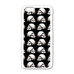 Halloween Skull Pattern Apple Iphone 6/6s White Enamel Case by ValentinaDesign