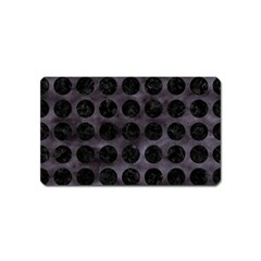 Circles1 Black Marble & Black Watercolor (r) Magnet (name Card) by trendistuff