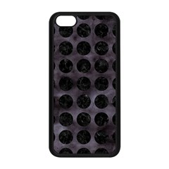 Circles1 Black Marble & Black Watercolor (r) Apple Iphone 5c Seamless Case (black) by trendistuff