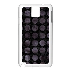 Circles1 Black Marble & Black Watercolor Samsung Galaxy Note 3 N9005 Case (white)