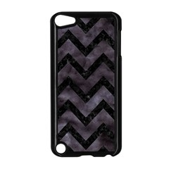 Chevron9 Black Marble & Black Watercolor (r) Apple Ipod Touch 5 Case (black) by trendistuff