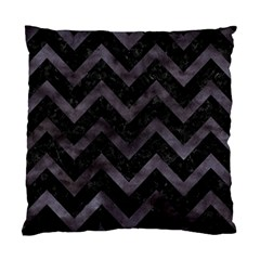 Chevron9 Black Marble & Black Watercolor Standard Cushion Case (one Side) by trendistuff