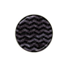Chevron3 Black Marble & Black Watercolor Hat Clip Ball Marker (10 Pack) by trendistuff
