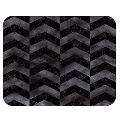 Chevron2 Black Marble & Black Watercolor Double Sided Flano Blanket (medium)  by trendistuff