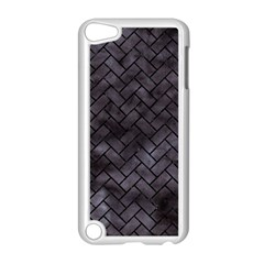 Brick2 Black Marble & Black Watercolor (r) Apple Ipod Touch 5 Case (white) by trendistuff