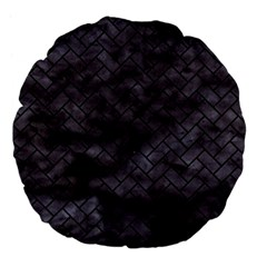 Brick2 Black Marble & Black Watercolor (r) Large 18  Premium Flano Round Cushions by trendistuff