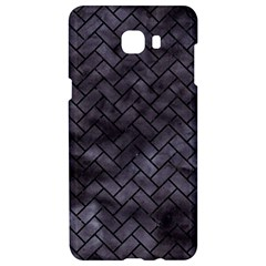 Brick2 Black Marble & Black Watercolor (r) Samsung C9 Pro Hardshell Case  by trendistuff