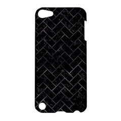 Brick2 Black Marble & Black Watercolor Apple Ipod Touch 5 Hardshell Case by trendistuff
