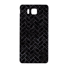 Brick2 Black Marble & Black Watercolor Samsung Galaxy Alpha Hardshell Back Case by trendistuff