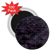 Brick1 Black Marble & Black Watercolor (r) 2 25  Magnets (100 Pack)  by trendistuff