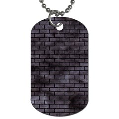 Brick1 Black Marble & Black Watercolor (r) Dog Tag (two Sides) by trendistuff