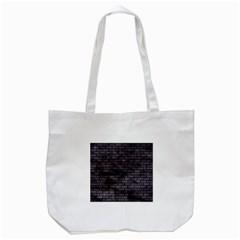 Brick1 Black Marble & Black Watercolor (r) Tote Bag (white) by trendistuff