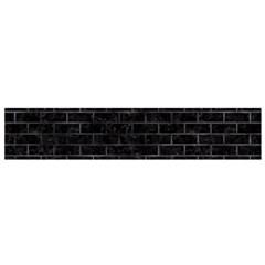 Brick1 Black Marble & Black Watercolor Flano Scarf (small) by trendistuff