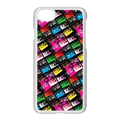 Pattern Colorfulcassettes Icreate Apple Iphone 7 Seamless Case (white) by iCreate