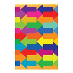 Arrow Rainbow Orange Blue Yellow Red Purple Green Shower Curtain 48  X 72  (small)  by Mariart