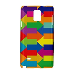 Arrow Rainbow Orange Blue Yellow Red Purple Green Samsung Galaxy Note 4 Hardshell Case by Mariart