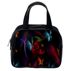 Beautiful Butterflies Rainbow Space Classic Handbags (one Side) by Mariart