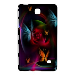 Beautiful Butterflies Rainbow Space Samsung Galaxy Tab 4 (8 ) Hardshell Case  by Mariart