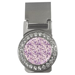 Vegetable Cabbage Purple Flower Money Clips (cz)  by Mariart