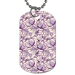 Vegetable Cabbage Purple Flower Dog Tag (one Side) by Mariart