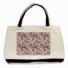 Vegetable Cabbage Purple Flower Basic Tote Bag by Mariart