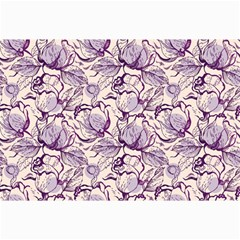 Vegetable Cabbage Purple Flower Canvas 20  X 30   by Mariart