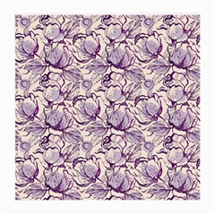 Vegetable Cabbage Purple Flower Medium Glasses Cloth (2 Side) by Mariart