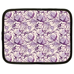 Vegetable Cabbage Purple Flower Netbook Case (large) by Mariart