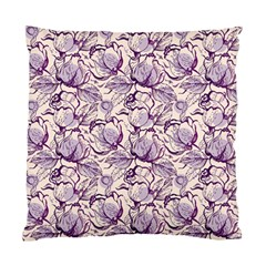Vegetable Cabbage Purple Flower Standard Cushion Case (two Sides) by Mariart