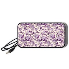 Vegetable Cabbage Purple Flower Portable Speaker (black) by Mariart