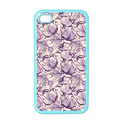Vegetable Cabbage Purple Flower Apple Iphone 4 Case (color) by Mariart