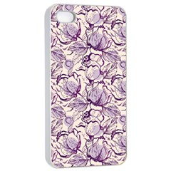Vegetable Cabbage Purple Flower Apple Iphone 4/4s Seamless Case (white) by Mariart