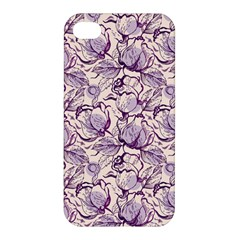 Vegetable Cabbage Purple Flower Apple Iphone 4/4s Hardshell Case by Mariart