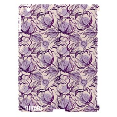 Vegetable Cabbage Purple Flower Apple Ipad 3/4 Hardshell Case (compatible With Smart Cover) by Mariart