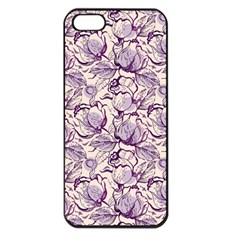 Vegetable Cabbage Purple Flower Apple Iphone 5 Seamless Case (black) by Mariart