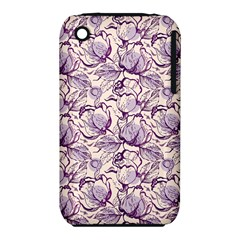 Vegetable Cabbage Purple Flower Iphone 3s/3gs by Mariart
