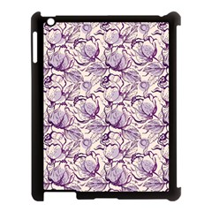 Vegetable Cabbage Purple Flower Apple Ipad 3/4 Case (black) by Mariart