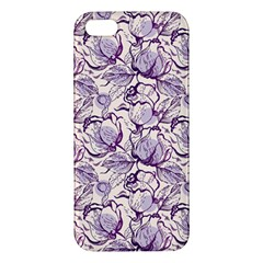 Vegetable Cabbage Purple Flower Apple Iphone 5 Premium Hardshell Case by Mariart