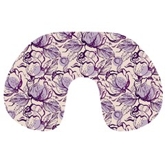Vegetable Cabbage Purple Flower Travel Neck Pillows by Mariart