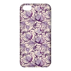 Vegetable Cabbage Purple Flower Apple Iphone 5c Hardshell Case by Mariart