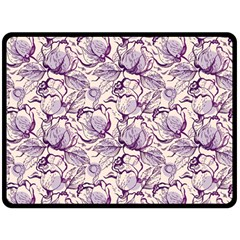 Vegetable Cabbage Purple Flower Double Sided Fleece Blanket (large)  by Mariart