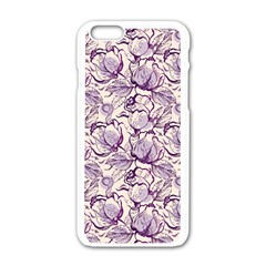 Vegetable Cabbage Purple Flower Apple Iphone 6/6s White Enamel Case by Mariart