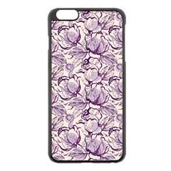 Vegetable Cabbage Purple Flower Apple Iphone 6 Plus/6s Plus Black Enamel Case by Mariart