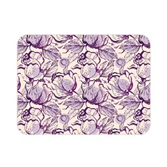 Vegetable Cabbage Purple Flower Double Sided Flano Blanket (mini)  by Mariart