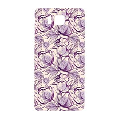 Vegetable Cabbage Purple Flower Samsung Galaxy Alpha Hardshell Back Case by Mariart