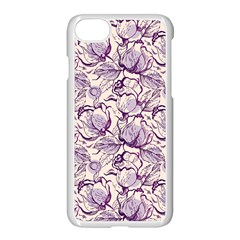 Vegetable Cabbage Purple Flower Apple Iphone 7 Seamless Case (white) by Mariart
