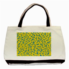 Blue Yellow Space Galaxy Basic Tote Bag by Mariart