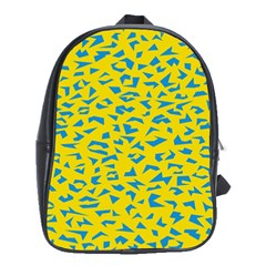 Blue Yellow Space Galaxy School Bag (large) by Mariart